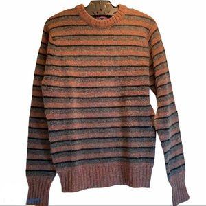 Vintage English Wool Striped Sweater
